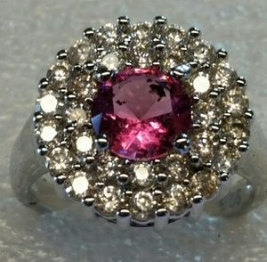 Pink sapphire and pink topaz rings